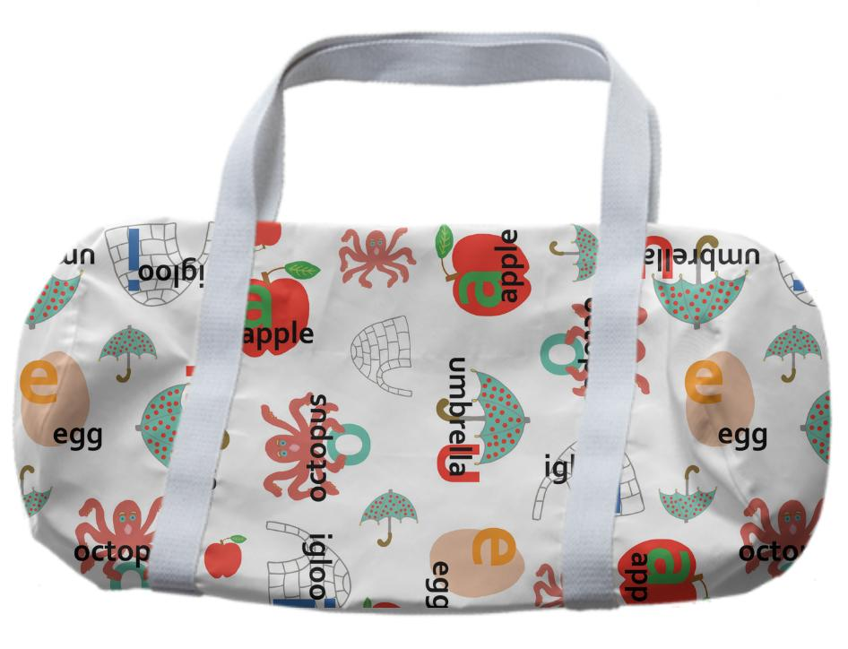 Alphabet Vowel Sounds Duffle Bag