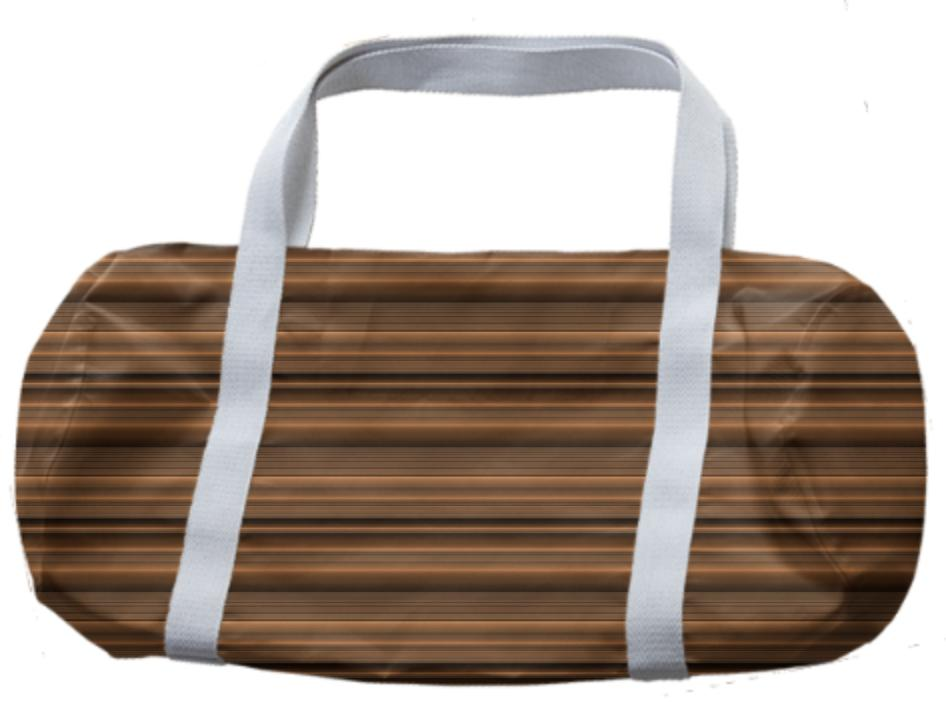 Bronze Tone Stripe Duffle Bag