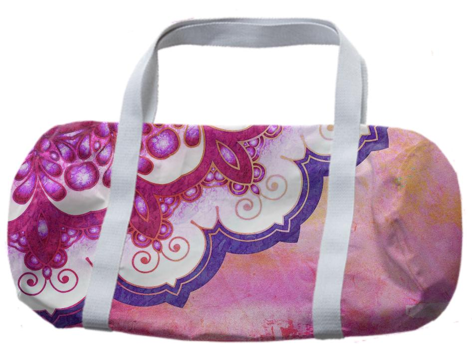 Colorful Watercolor Mandala Duffle Bag
