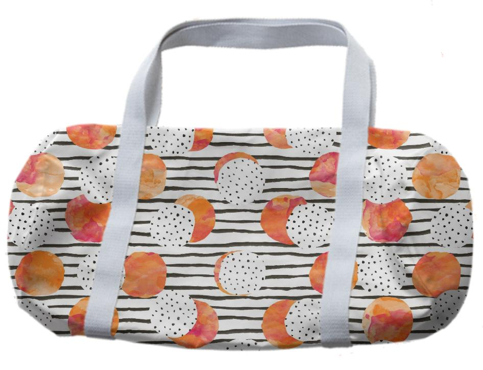 Fruity Orange Duffle Bag