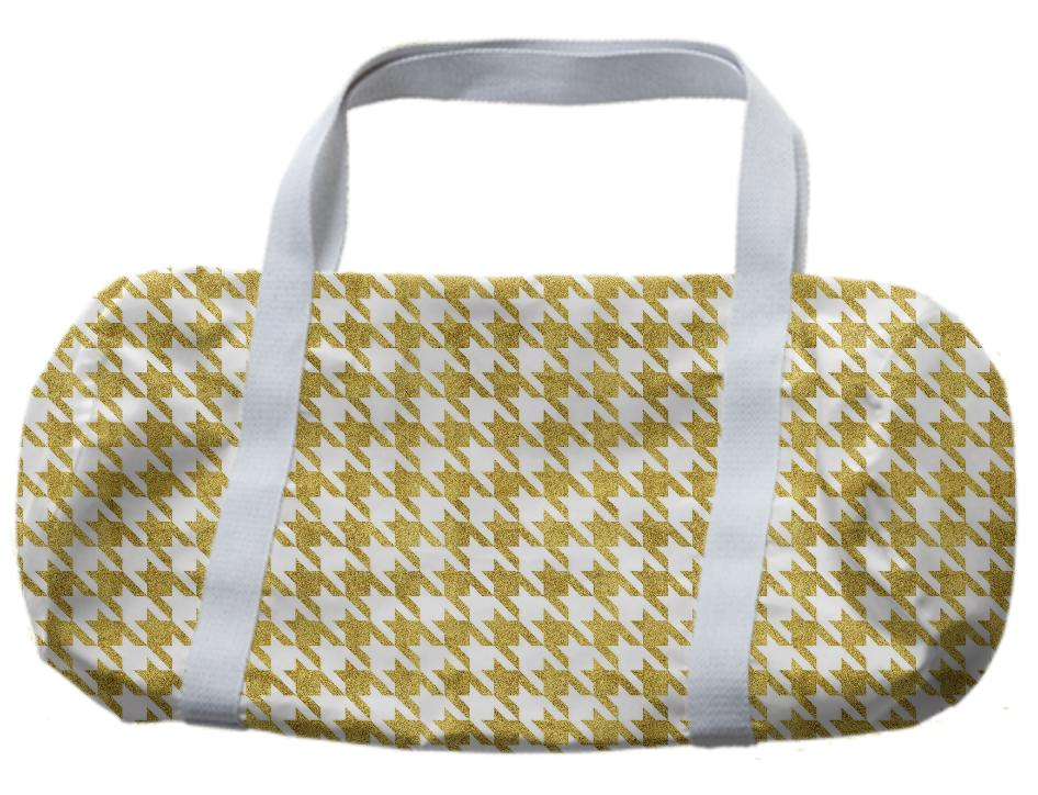 Golden Pied de Poule Duffle Bag