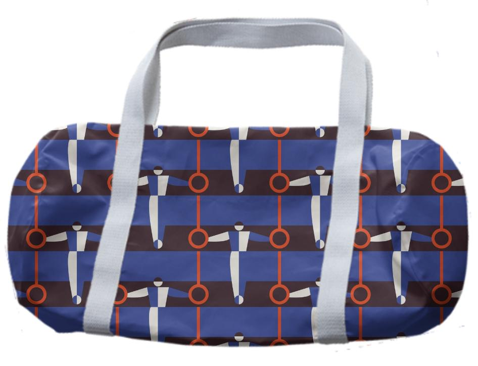 gymnast rings stripe duffle bag