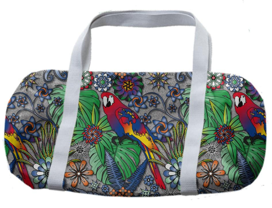 Jungle Parrot Duffle Bag