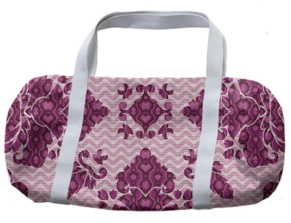 Python Lace Fantasy in Pink Duffle Bag