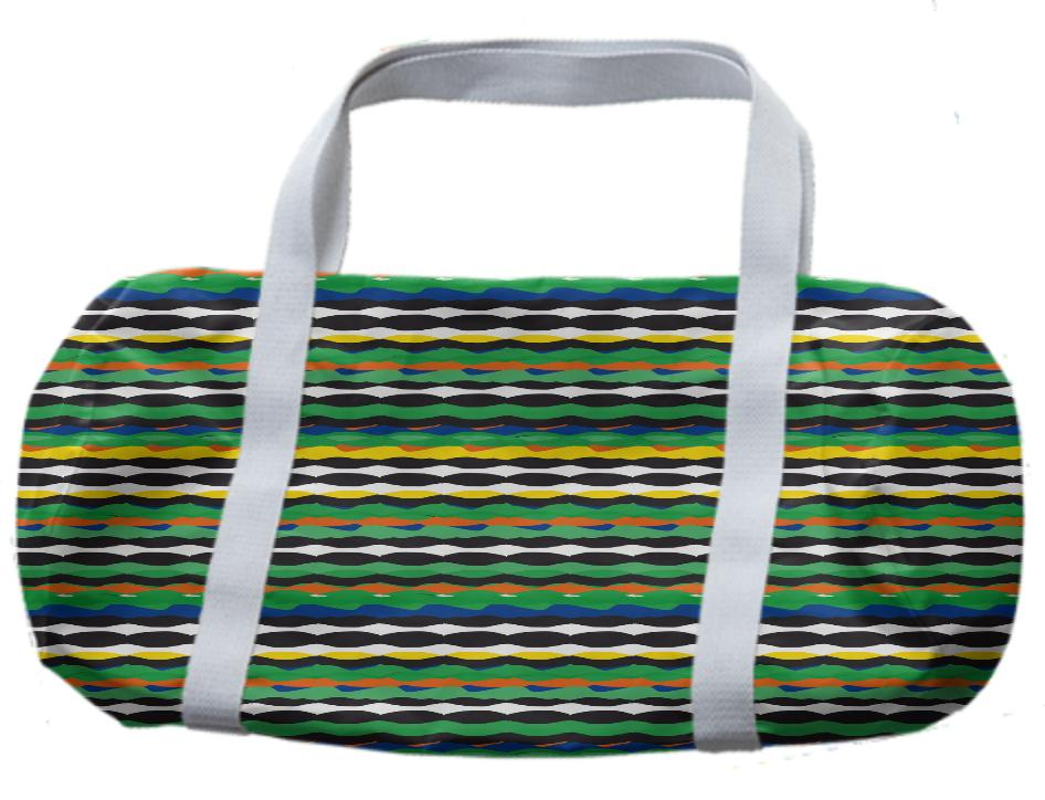 Tropical Stripes Duffle Bag