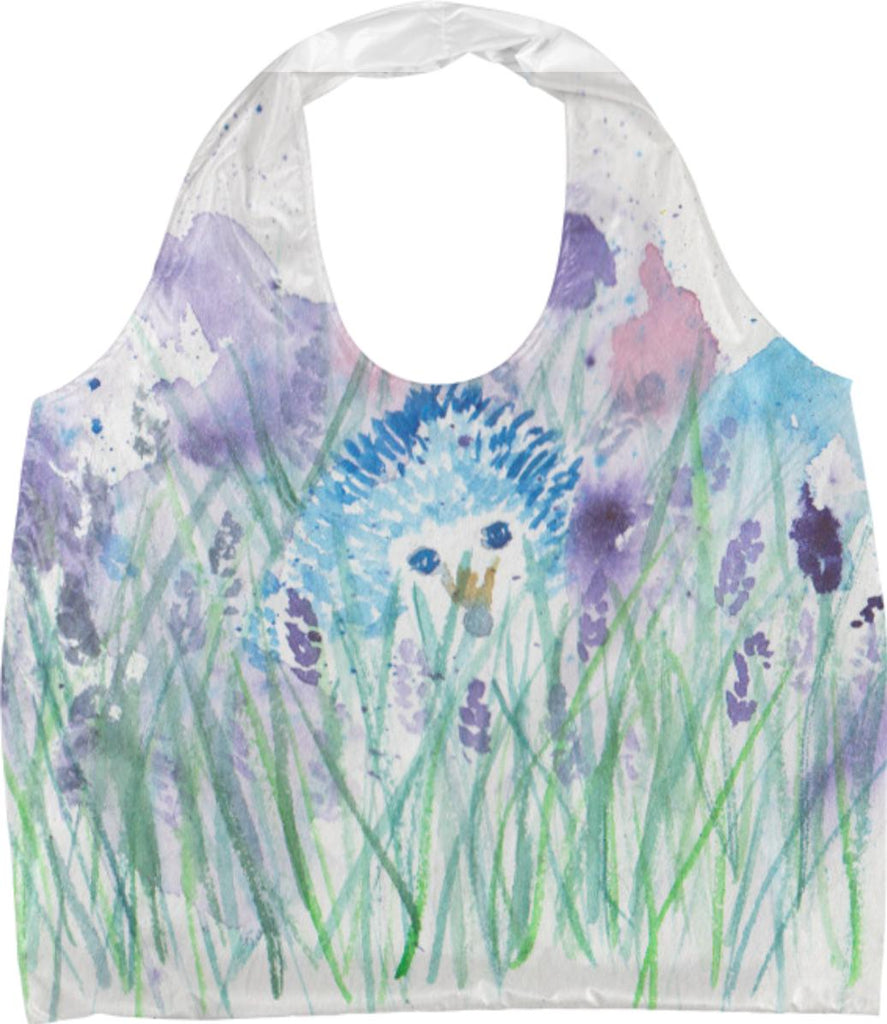 a hedgehog in lavender