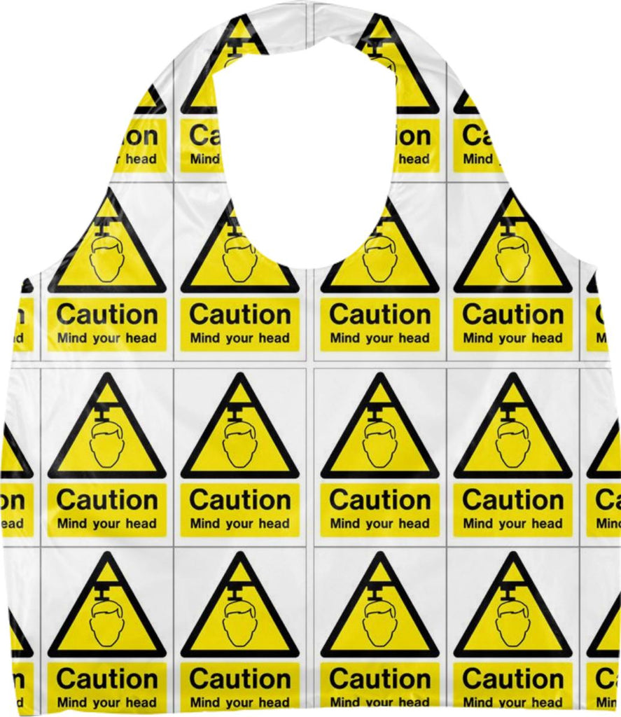 Caution Mind Your Head Eco Tote