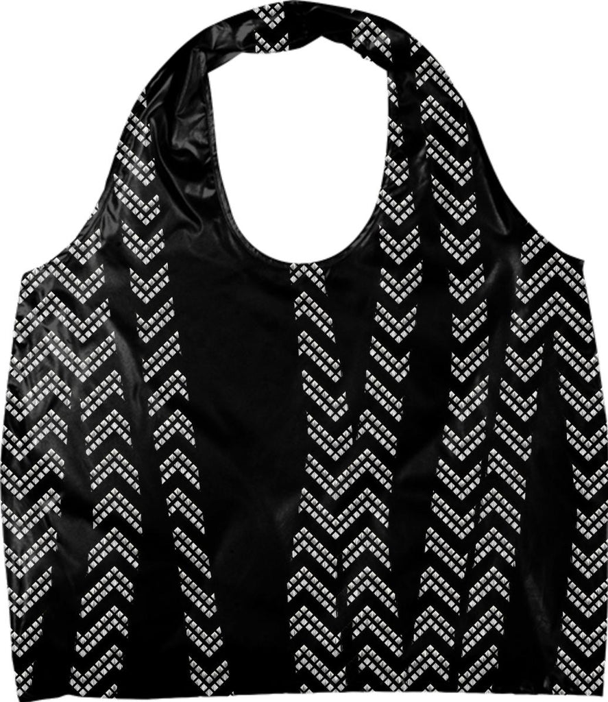 Chevron and Zebra Eco Tote