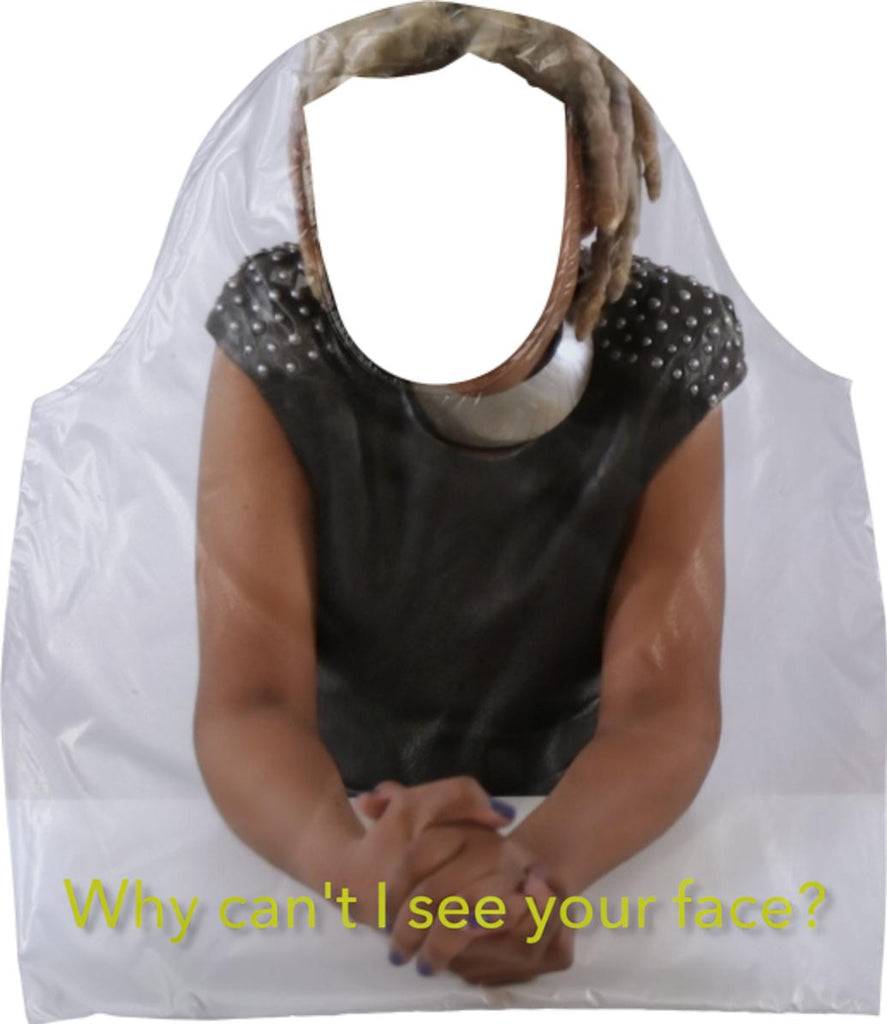 E Why Can t I See Your Face Ecobag