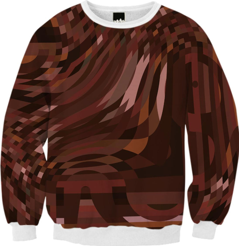 Abstract 369 Brown Geometric Sweatshirt