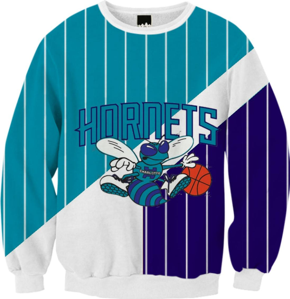 charolette hornets pinstripe sweat shirt