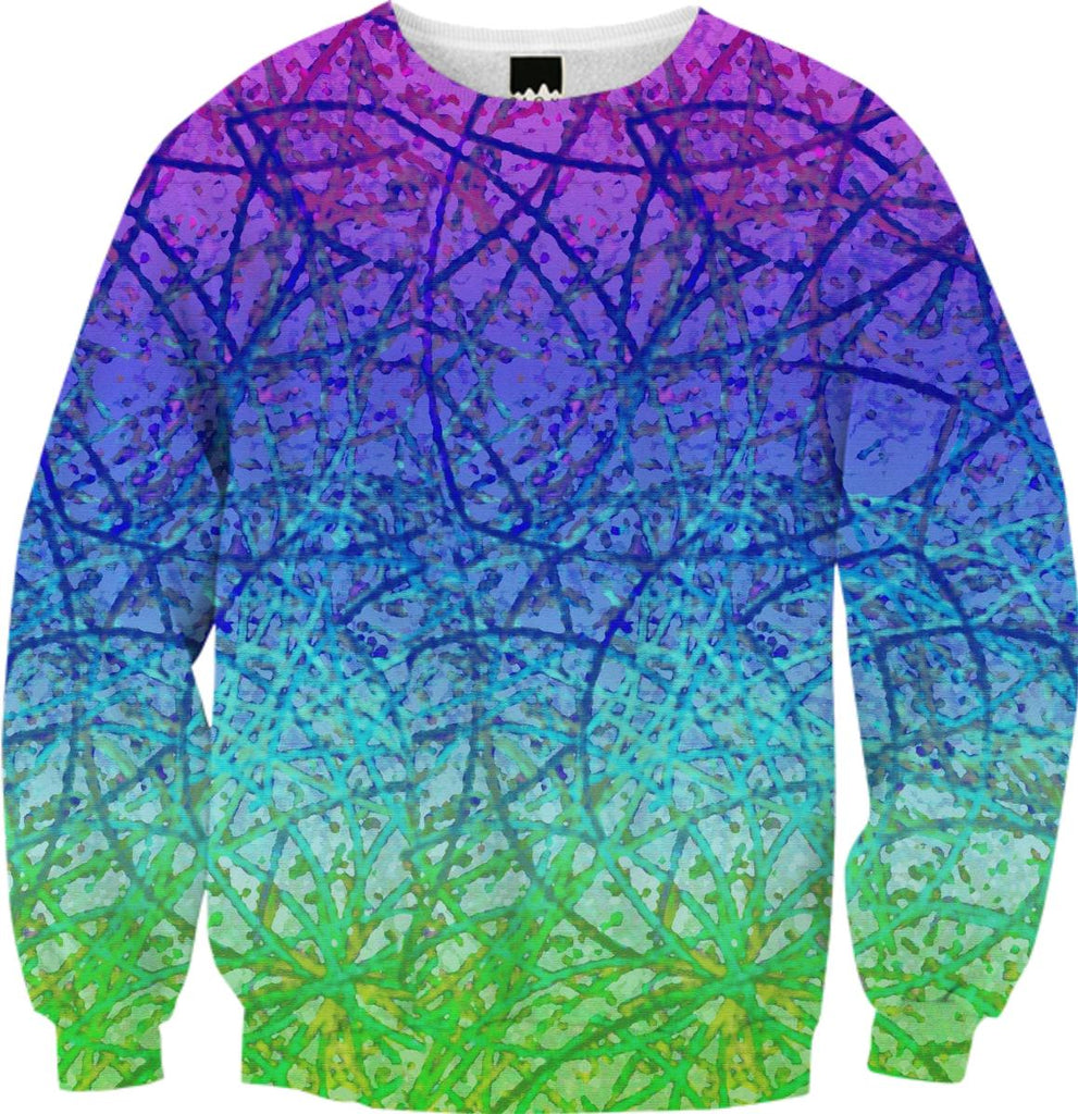 FALL SWEATSHIRT Grunge Art Abstract G4