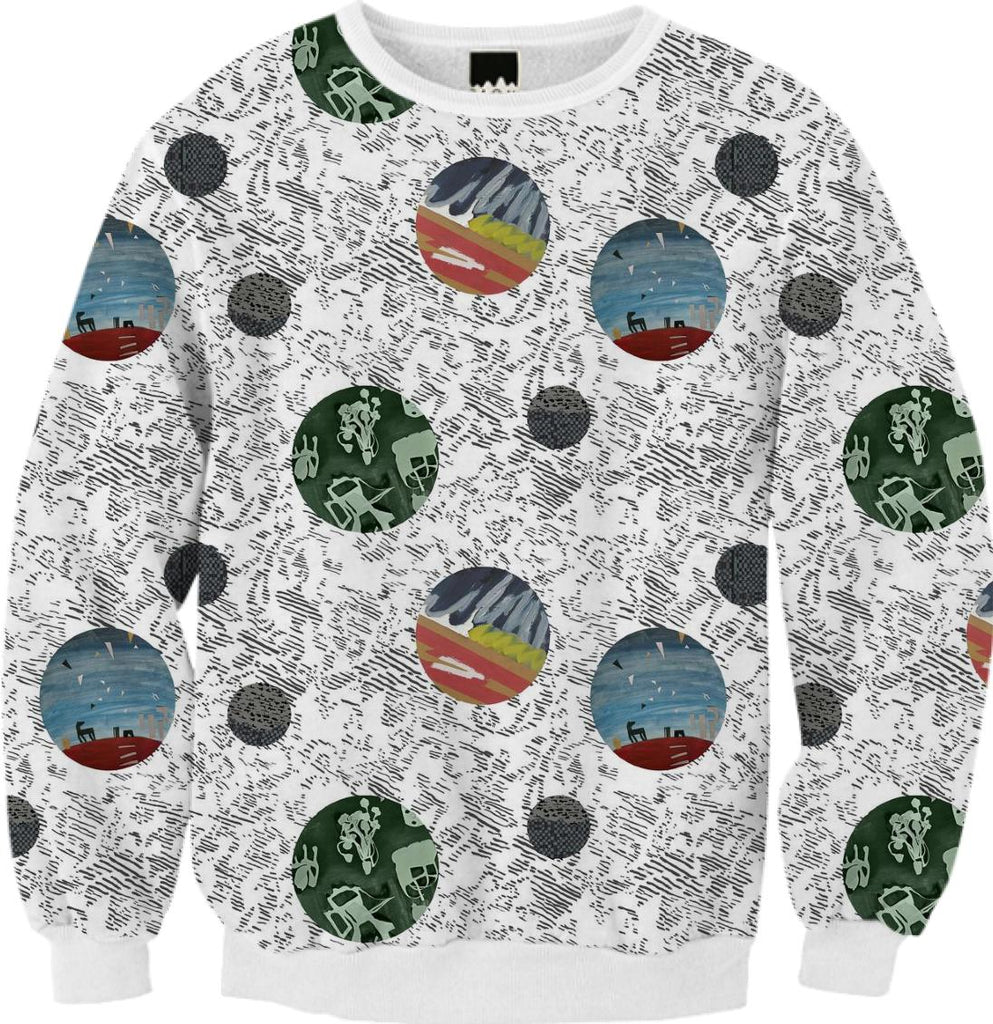 PAOM, Print All Over Me, digital print, design, fashion, style, collaboration, textile-arts-center, textile arts center, Ribbed Sweatshirt, Ribbed-Sweatshirt, RibbedSweatshirt, Feral, Childe, for, TAC, autumn winter, unisex, Poly, Tops