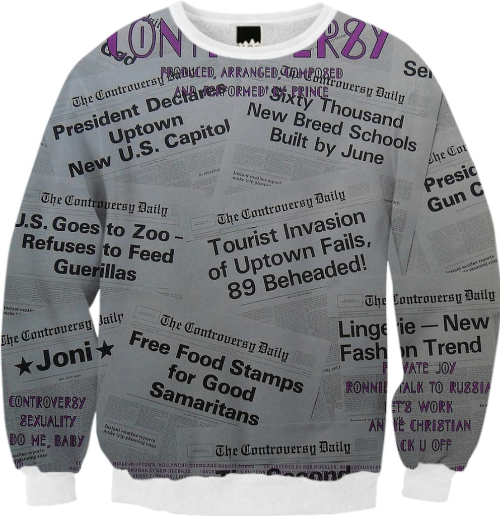 Prince Controversy Back Cover Sweatshirt