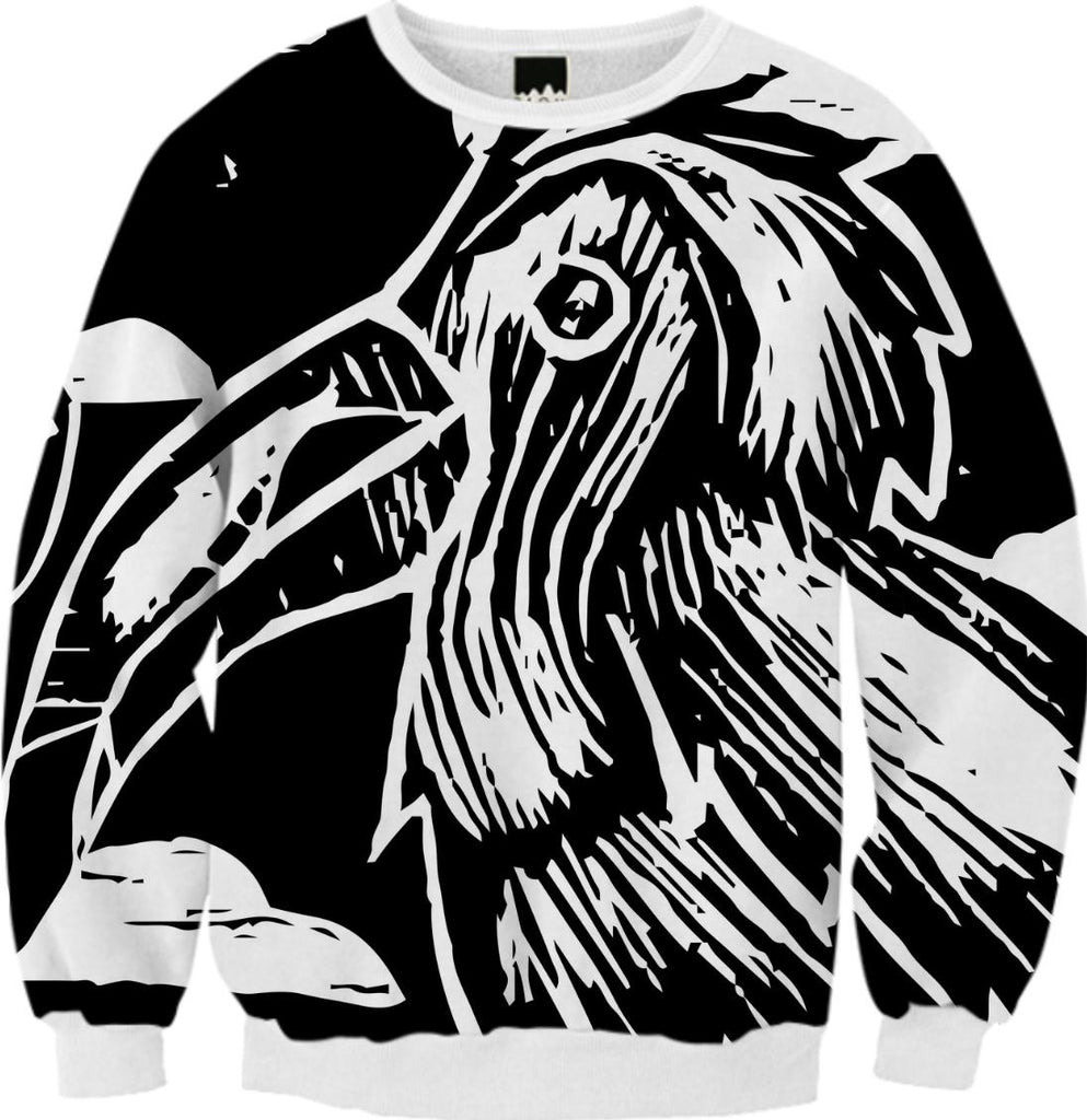 Toucan Woodblock Print Sweatshirt