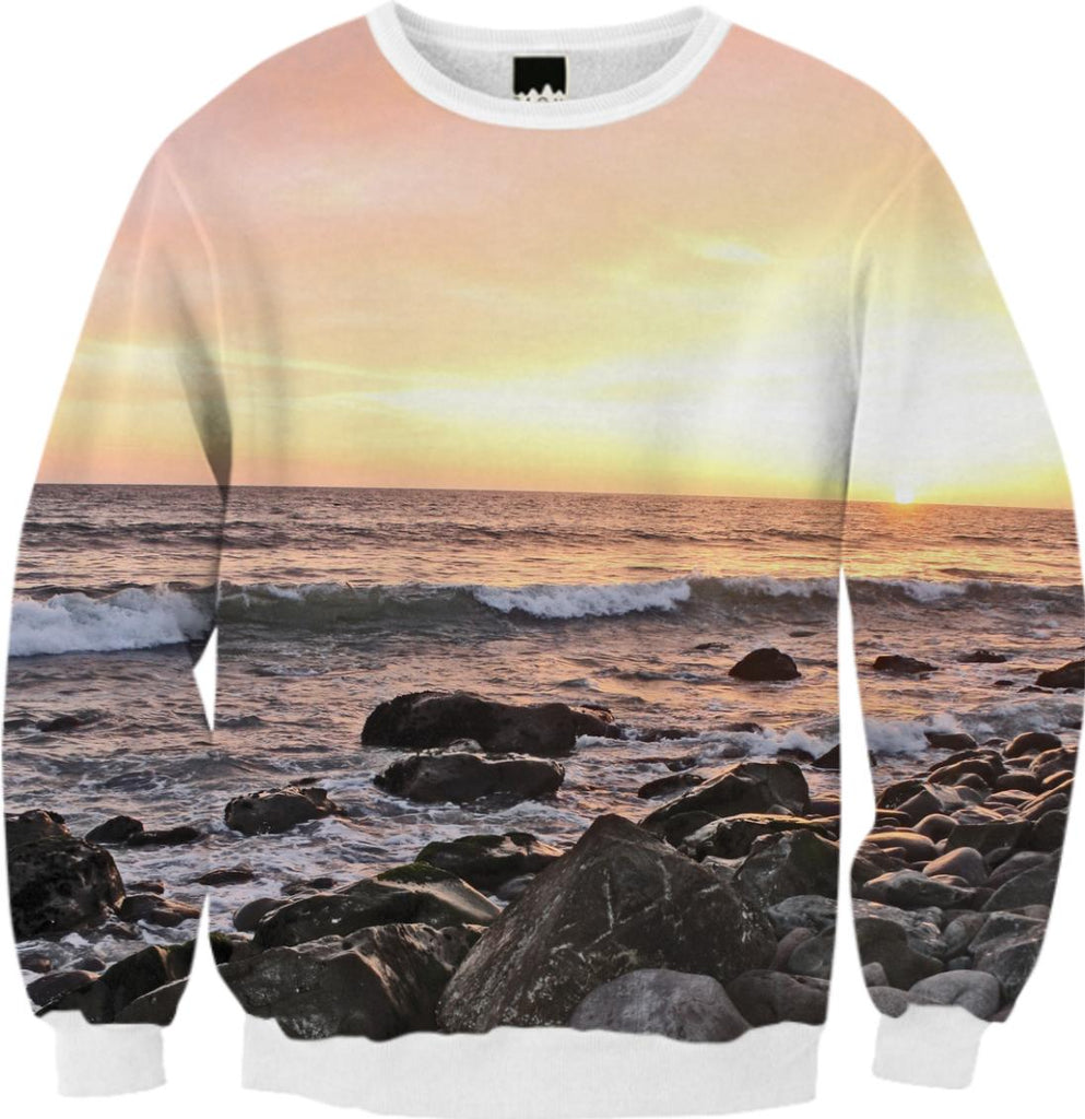 vivid sunset sweater