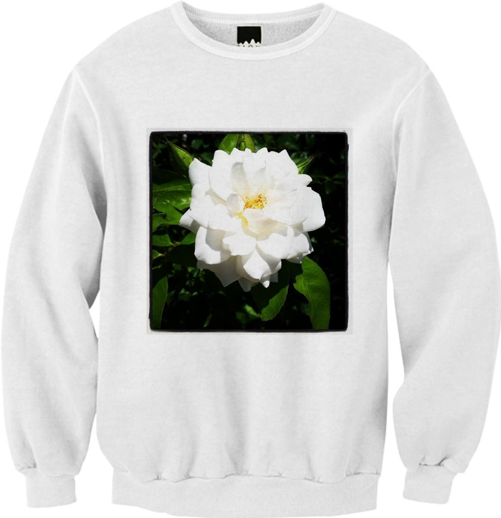 White Flower Sweatshirt