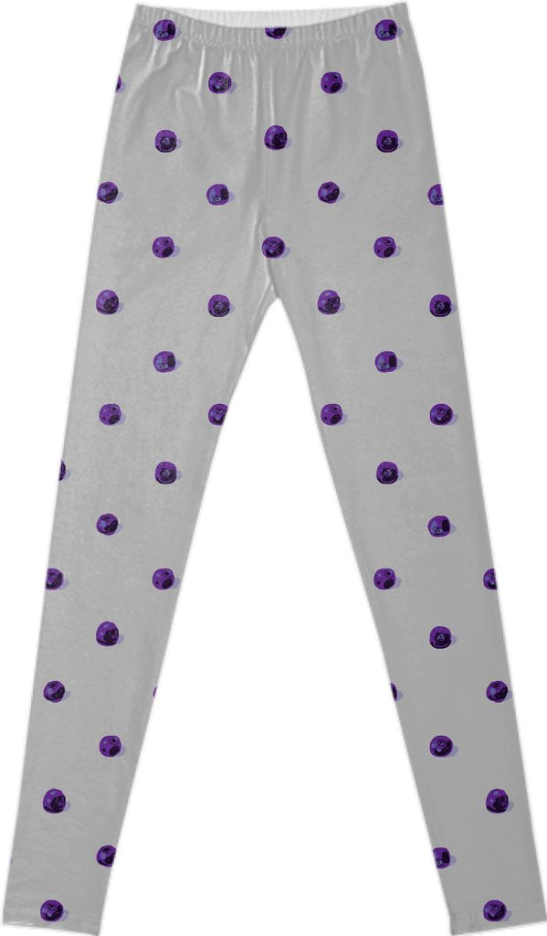 Blueberry Polka Dot Leggings