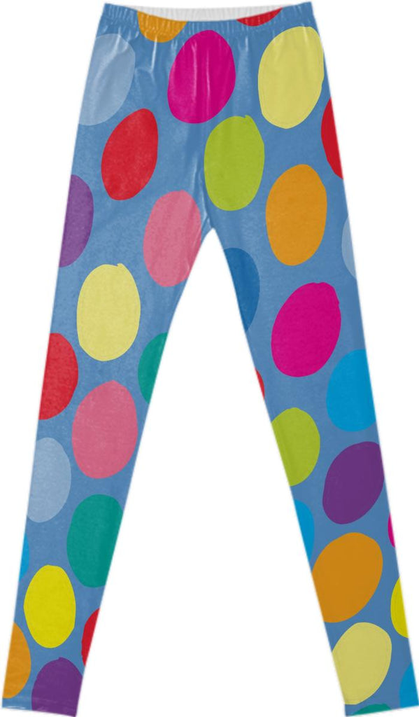 Colour Spot Blue Leggings