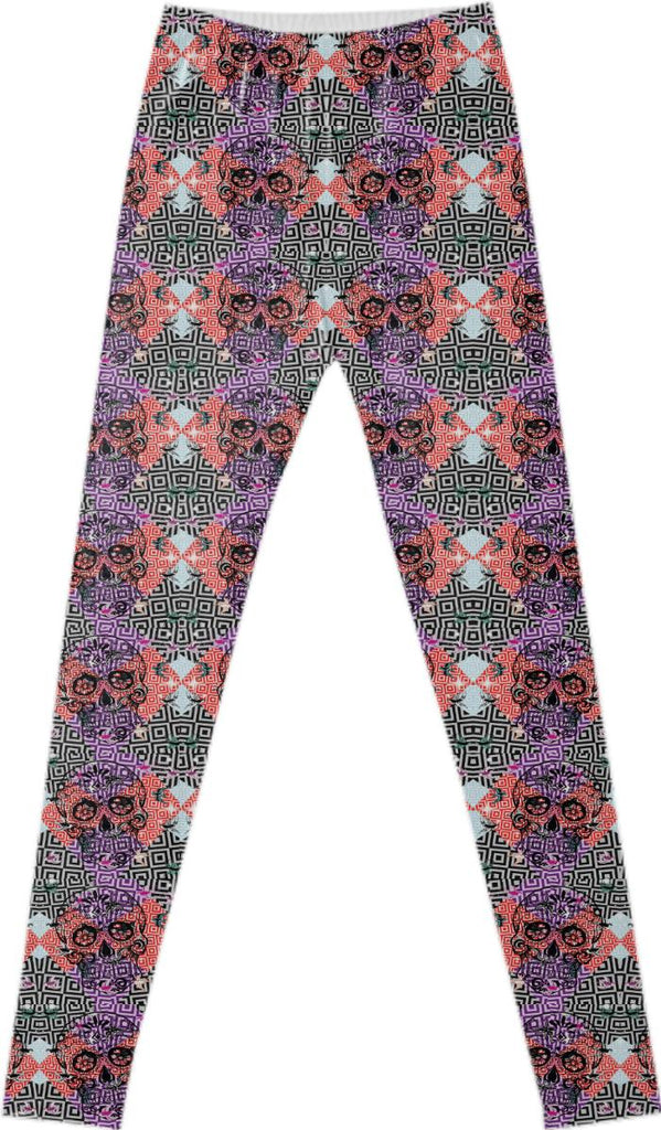Dancing Skulls Fancy Leggings