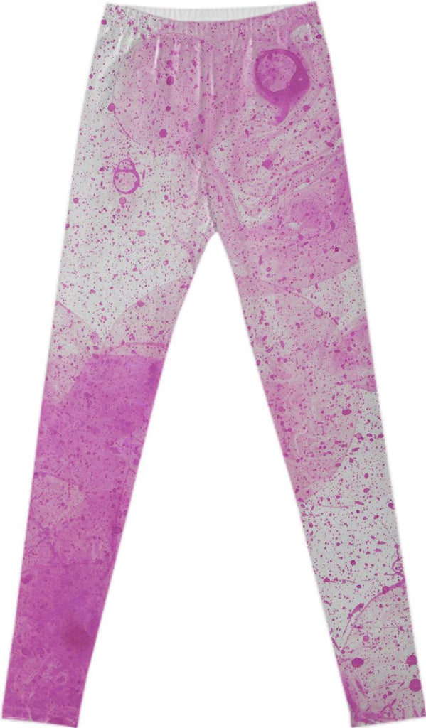 DOS PINK SPLATTER LEGGINGS