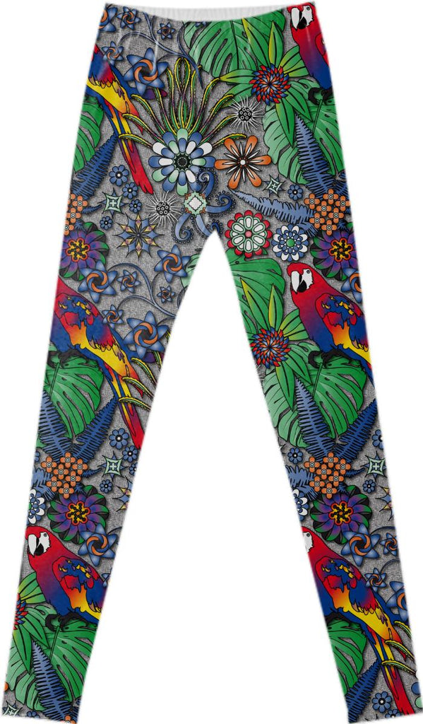 Jungle Parrot Fancy Leggings