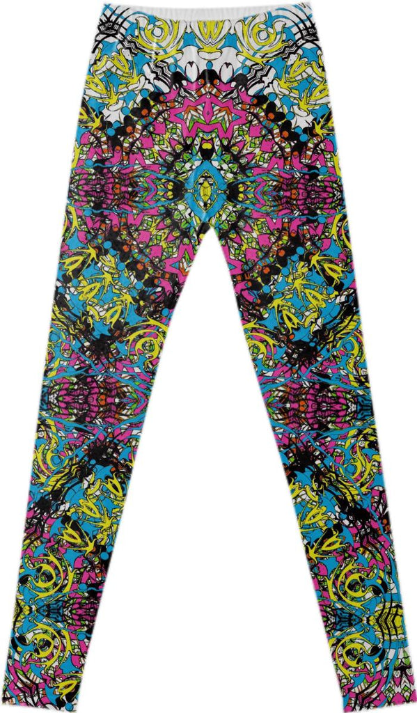 Stylish Chic Multi Colored Vintage Lacy Patterned Fancy Legging