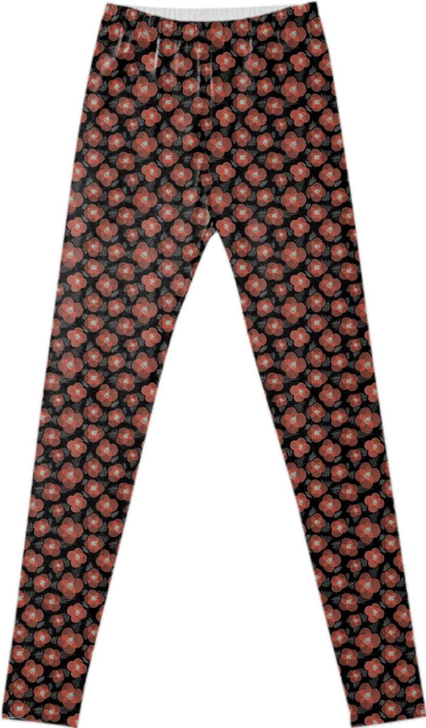 vintage spanish flower leggings