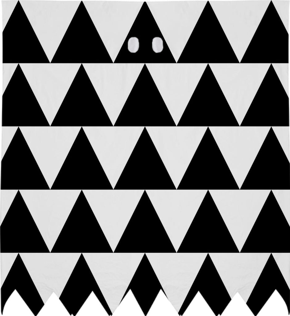 Black and White Triangle Ghost Costume