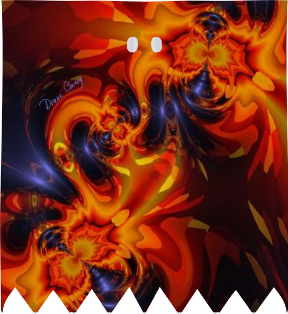 Dance of the Dragons Abstract Indigo Amber Eyes