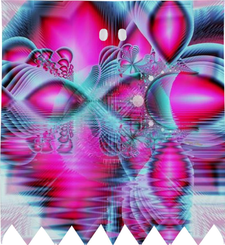 Ruby Red Crystal Palace Abstract Fractal Pink Jewels