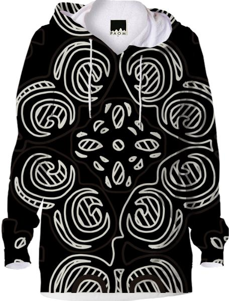 Black and White Pattern Hoodie