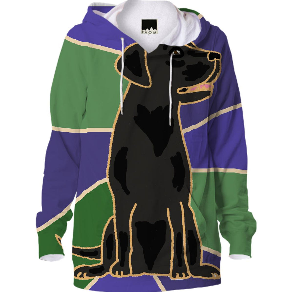 Black Labrador Retriever Art Hoodie