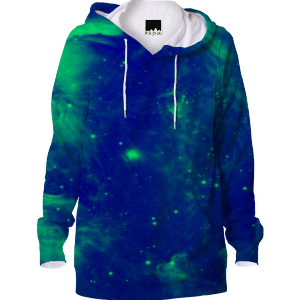 Blue And Green Galaxy Print