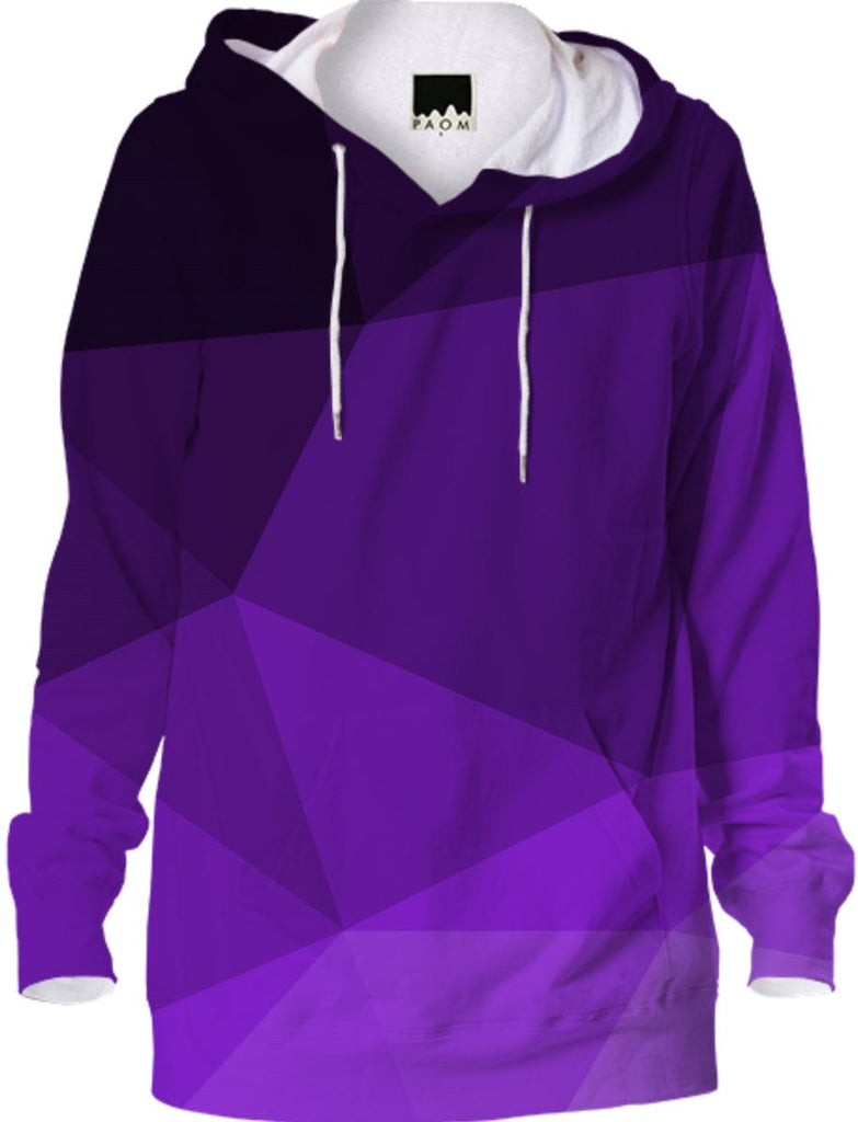 Cool Purple Geometry Hoodie Abstract Geometric Design