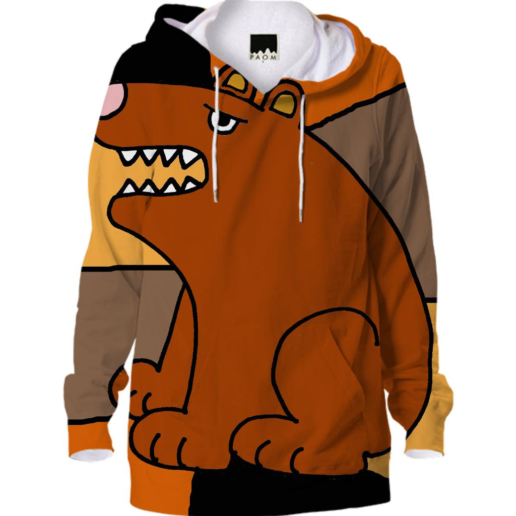 Funny Brown Bear Abstract Hoodie