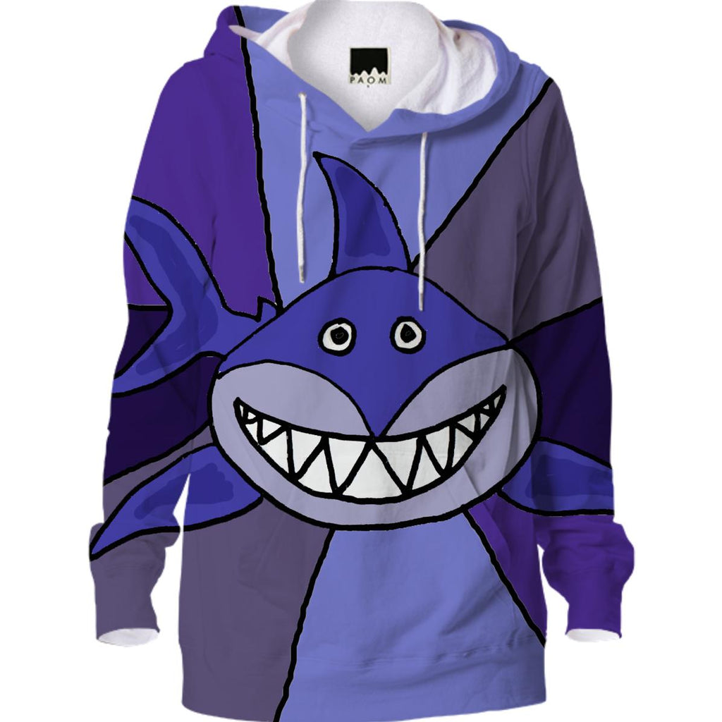 Funny Grinning Shark Hoodie