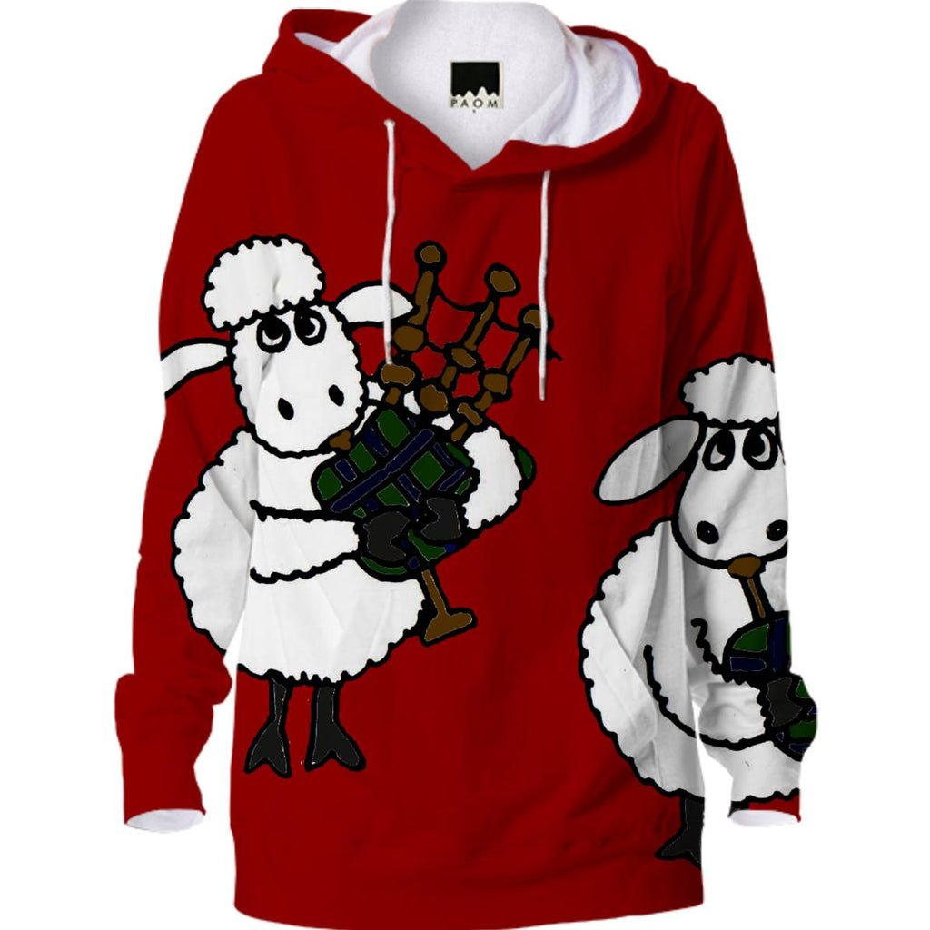 Funny Sheep Playing Bagpipes Hoodie