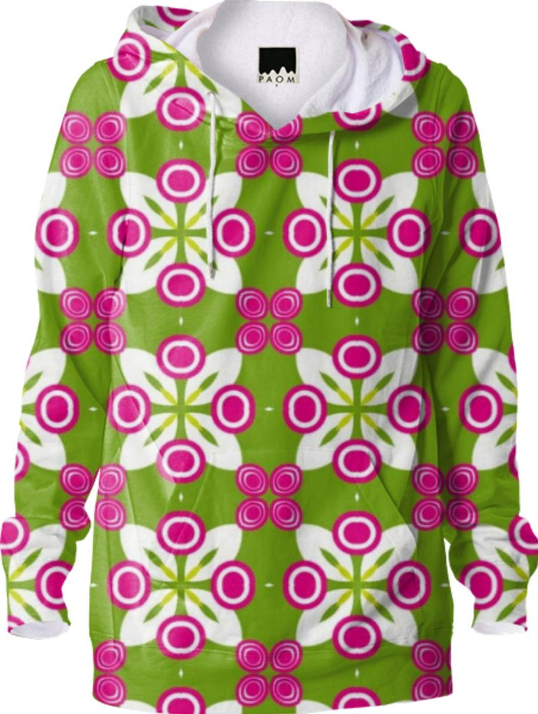 Green and Pink Geometric Hoodie