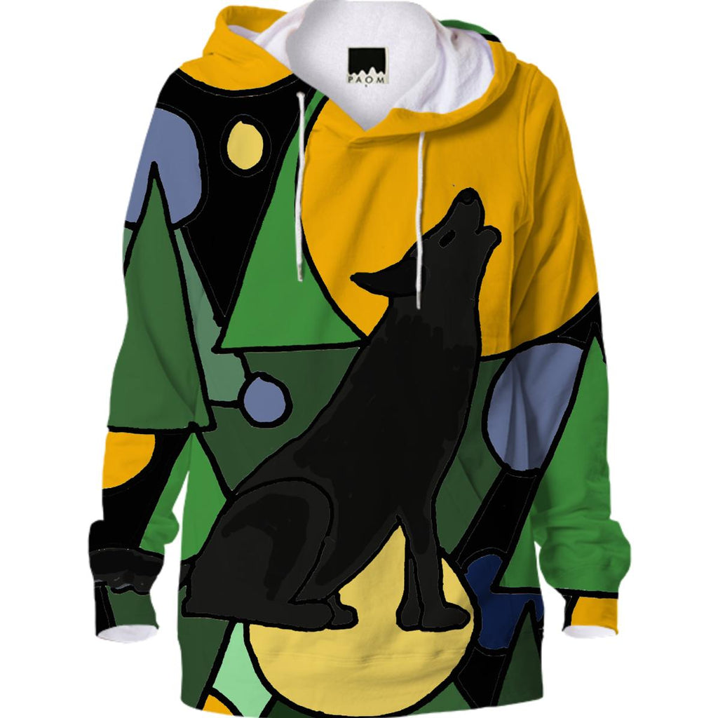 Howling Wolf Abstract Hoodie