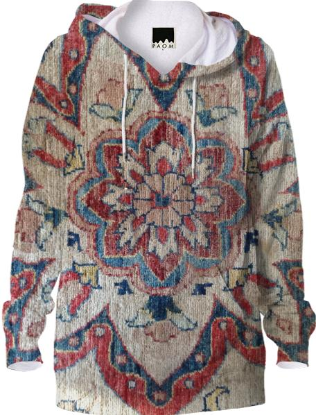 Persian Rug Hoodie a k a Snug as a Bug in a Rug