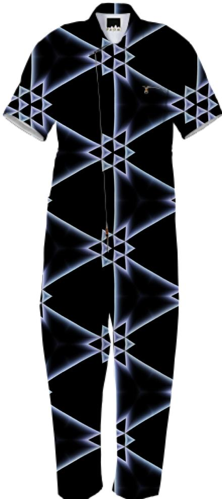 Black Triangles Patterned Jumpsuit