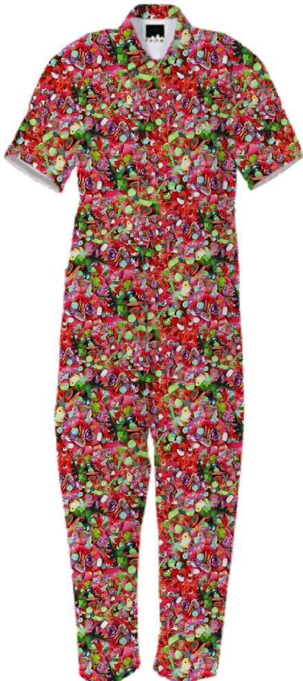 PAOM, Print All Over Me, digital print, design, fashion, style, collaboration, zoe-schlacter, zoe schlacter, Jumpsuit, Jumpsuit, Jumpsuit, Flower, Headband, autumn winter spring summer, unisex, Cotton, One Piece