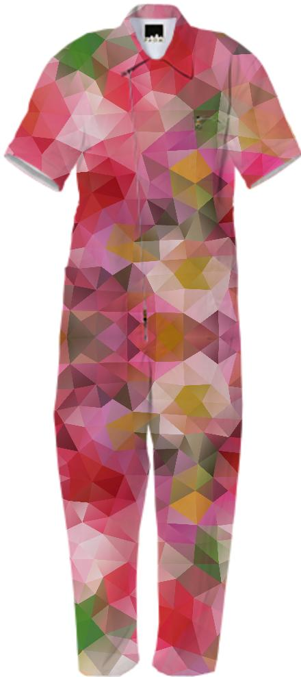 POLYGON TRIANGLES PATTERN PINK RED VIOLET YELLOW FLOWERS ABSTRACT POLYART GEOMETRIC GEOMETRIC PATTERN FLOWER NATURE