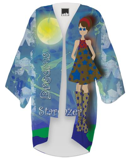 On Top of the World with Stars in Her Eyes Kimono