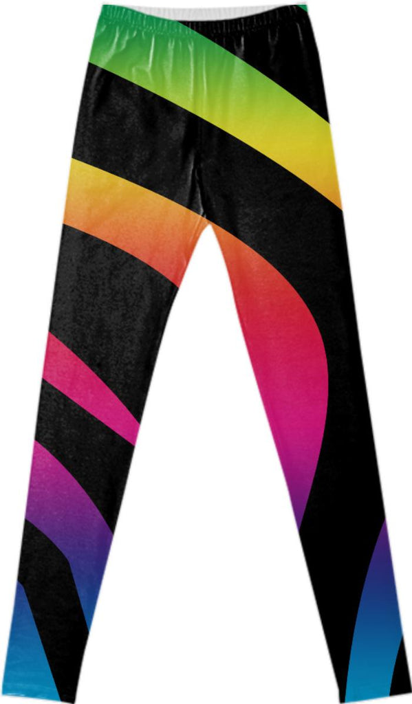 Black Rainbow Leggings