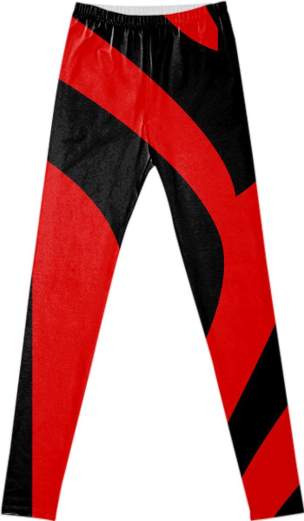 Black Red Leggings