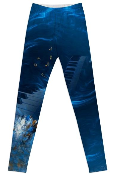 Blue Coral Melody LEGGINGS