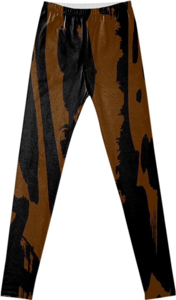 PAOM, Print All Over Me, digital print, design, fashion, style, collaboration, fort-makers, fort makers, Leggings, Leggings, Leggings, Brown, Islands, Legging, autumn winter spring summer, unisex, Spandex, Bottoms