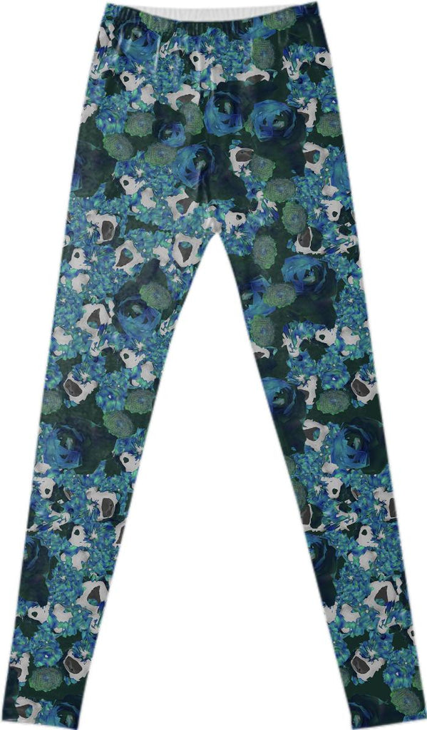 fractals all over leggings
